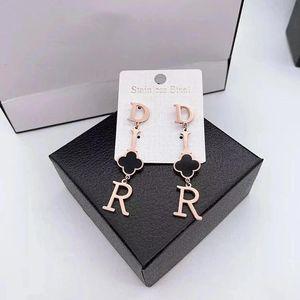 DHL High Quality Gold Plated Love ear Studs Earrings Letter Fashion Earrings For Women Girl Wholesale