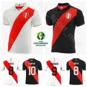 Copa América de 2019 Futebol Peru Jersey 9 GUERRERO 10 FARFAN 8 CUEVA 20 FLORES 19 YOTUN 13 TAPIA Futebol shirt Kits Uniforme