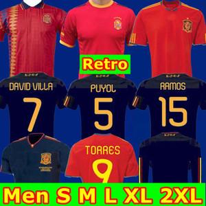 Top Thailand 2010 1994 Finale 2002 Spanien Retro Fußball-Trikot RAUL 7 maillot de foot XAVI LUIS ENRIQUE RAMOS Iniesta PIQUE camiseta de fútbol