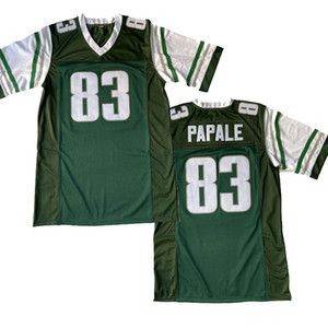 Mens 83 Vince Paparale Invincibile Jersey 100% Cucito Pelle di calcio Movie Trasporto libero