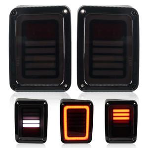 Jeep Wrangler için 2007-2016 Jeep Wrangler için LED Kuyruk Işıkları JK Arka Işık Fren Ters Dönüş Singnal Back Up Arka Lamba