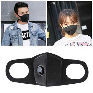 Masques respiratoires Valve réutilisable Anti-allergique Masques bouche anti-poussière Anti Pollution Masque Masque Tissu