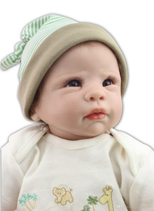ht Ücretsiz yumuşak silikon vinil gerçek nazik dokunuşu güzel bebek bebek canlı gibi çok yumuşak 22inch yeniden doğmuş bebek bebek nakliye