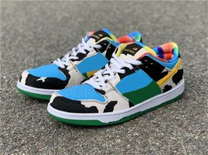 2020 New Authentic Ben &Jerry &#039 ;S X Sb Dunk Low Pro Qs Chunky Dunky Casual Shoes Men Lagoon Pulse University Gold Cu3244 -100 Sneakers