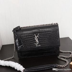 uno-borsa a tracolla della borsa, in pelle di produzione, di grande capacità, decorazione del metallo catena, alla moda e generoso, EY4429 femminile