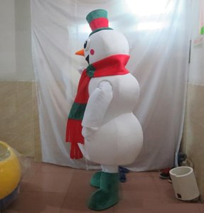 Wholesale-High quality hot the head happy snowman mascot costume for adult to wear
