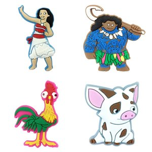 50pcs Moana Cartoon Figures Shoe Charms Shoe Decoration Nolvelty Shoe Accessories Crocse Accessories On Sale Jibz Birthday Gifts