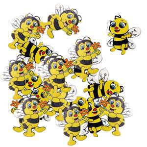 Главной Сад Нового 20 шт Wood Shapes Bee Украшательство для Scrapbooking Crafts декоративных пуговиц FlatBack карты Изготовление украшения подарка