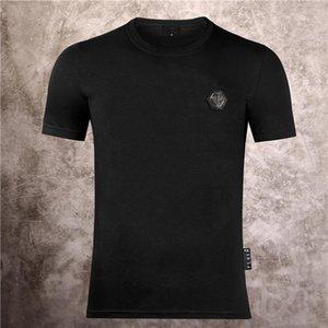 Philip Plain marca Mens progettista delle magliette di lusso della maglietta Firmata Uomo Moda estate Homme Mens Skull maglietta Tee Top 702