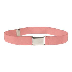 26 Colors Kids Toddler Belt Elastic Adjustable Stretch Unisex Belts Silver Square Buckle 2019 Hot Sale cinturón mujer All Season