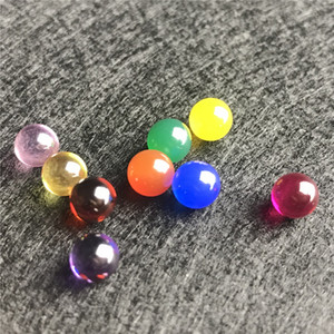 Nouveau 6mm Terp Pearl Inserts Jade Ball Avec Rouge Vert Bleu Jaune Ruby Diamant Quartz Banger Terp Pearl Insert Ball