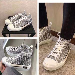 Dior envío floral lona técnica B2 B24 oblicuas de los hombres a estrenar de alta calidad superior zapatillas de deporte 19SS xshfbcl zapatos del diseñador de la marca B2 damas
