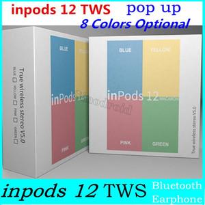 inpods12 MACARON TWS Беспроводные наушники Bluetooth V5.0 inpods 12 с всплывающим окном Сенсорное управление гарнитурой для Iphone X Samsung S10 Huawei