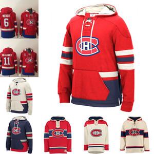 Modificada para Montreal Canadiens Jonathan Drouin Carey Precio 6 Shea Weber Max Domi Andrew Shaw Jordie Benn con capucha cosida con capucha