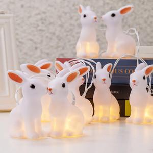 La chaîne décorative à piles de lapin de Pâques à LED de 10 lumières d'intérieur allume des vacances et allume des cordes de LED d'intérieur