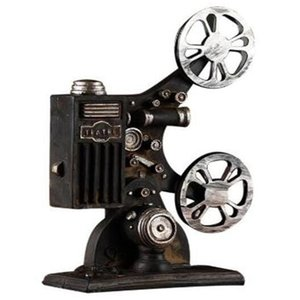 Creative Vintage Projector Model Retro Resin Crafts Bar Decor Home Decoration Accessories Antique Art Collections