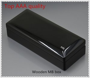 Top qualität Luxus Helle Schwarze Holz Stift Box Mit Papier Manuelle Buch Schreibwaren Bürobedarf Geschenk Stift Fall Für MB Stift