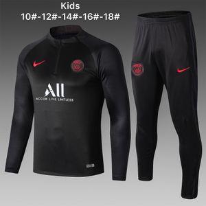 migliori nuovi 2020 tute Parigi bambini di calcio 19/20 PSG jersey rivestimento di calcio Cavani bambini felpa Mbappe ragazzi abbigliamento sportivo tuta A641