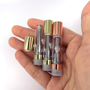 Oro rosa / oro Vape serbatoio olio in ceramica Coil rotonda Tip ecig cartuccia 510 Discussione CCS VVS vaporizzatore PK Muha Meds Carrelli atomizzatore