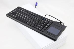 Teclado industrial incorporado com teclado trackball integrado com touchpad