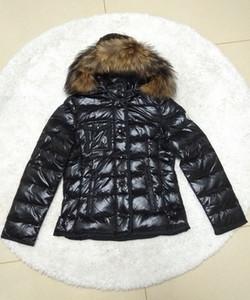 Marca invierno de las mujeres de piel de zorro de pato blanco abajo diseñador Chaqueta Señora cortocircuito de la cremallera con capucha invierno Prendas Capa Caliente