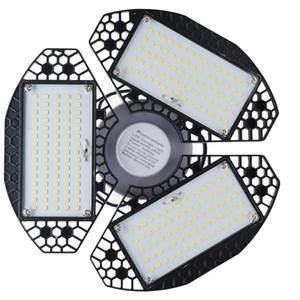 60W Led deformáveis Lamp Garagem Luz E27 LED teto Radar Home Lighting High Intensity Estacionamento Armazém Lâmpada industrial