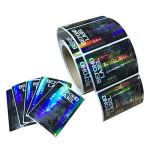 تخصيص الملونة 4C التصوير المجسم العناية بالبشرة حزمة ملصقات مطبوعة 1000PCS تسميات ماء الفينيل التعبئة مع لامعة على السطح