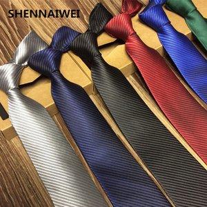 SHENNAIWEI katı 8 cm ince bağları erkekler düğün kırmızı kravat Moda siyah Adam Aksesuarları Sadelik Için Parti Iş Resmi lot C19011001