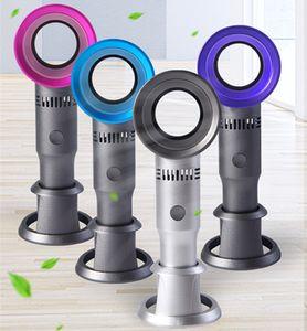 Plus récent Bladeless Fan X9S Mini Handheld Bureau / Table Air Cooler USB rechargeable amovible de base Ventilateur avec affichage LED Ligth