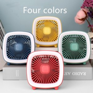 2020 New Four colors USB Bladeless Fan Rechargeable Portable Handheld Mini Cooler No Leaf Handy Fan With 3 Fan Speed Level LED Indicator