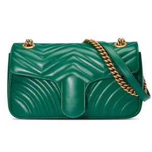 Bolsas de grife de alta qualidade de Luxo Bolsas de Marcas Famosas mulheres bolsa de couro Sacos de Ombro cadeia com caixa de 11 Cores