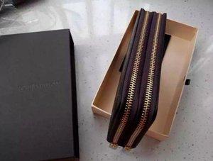 Caldo! commercio all'ingrosso di marca famosa moda singola cerniera di lusso a buon mercato designer donne pu portafoglio in pelle signora signore lungo borsa AU16
