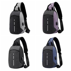 Outdoor Message Bags USB charge Crossbody bag Waterproof Durable Shoulder Bag Sling chest for Men Women