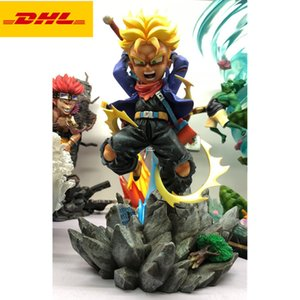 28CM PT Anime Dragon Ball Statue Saiyan Vegeta Bust Torankusu Full-Length Portrait Trunks Original Version GK Action Figure Toy BOX X579