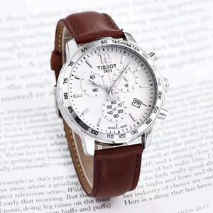 Hot venda de moda de luxo relógio 1.853 top mestre de alta qualidade de design de relógio de couro homens homens sincronismo cinto à prova de água quartzo das multi-funcionais