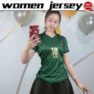 Mulheres Jerseys Italy Away Jersey 19/20 Feminino Terceiro Verde Bonucci Insigne Chielli Soccer Shirt Nation Team 2020 Menina Futebol Uniforme