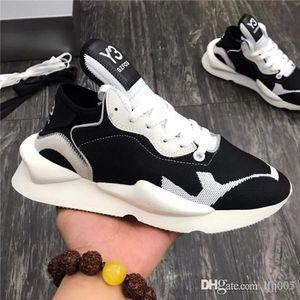 1: 1 hombres zapatos casuales diseñador de las mujeres de lujo de la zapatilla de deporte de moda estrella del aire de triple Plate-forme original material de Y3 papá calza el tamaño 35-45 con la caja