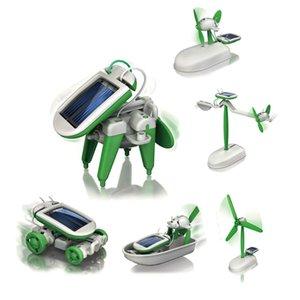 Ücretsiz kargo 6 1 Güneş Enerjisi DIY makinesi Yaratıcı Yeni egzotik Bilim eğitim Araya oyuncak Çok eğlenceli teknoloji oyuncak
