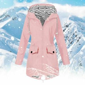 نساء موضة جديدة في فصل الشتاء مقنع معطف سليم سترة عادية دافئ ملابس رياضية ألبسة التنزه تسليم سريع PLUS SIZE