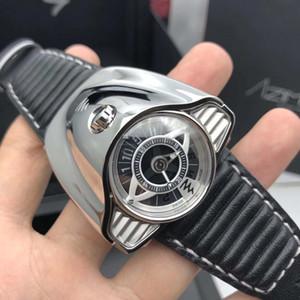 Rahat lüks gündelik erkek saatleri çin paslanmaz çelik İskelet Dial Kol kafatası mekanik hareketi moda yanlısı dalgıç çerçeve