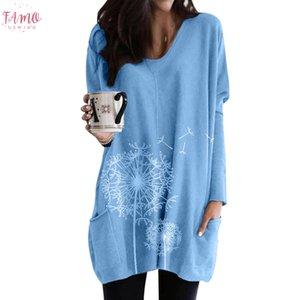 Tshirt Women Casual Plus Size O Neck Print Pocket Long Sleeve Patchwork Tops Poleras Camiseta Mujer Top Women Harajuku T Shirt
