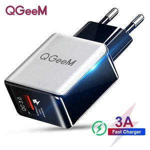QC 3.0 Fast Wall Charger USB Quick Charge 5V 3A 9V 2A Travel Power Adapter Fast Charging US EU Plug for iPhone 7 8 X XIAOMI Huawei Phone