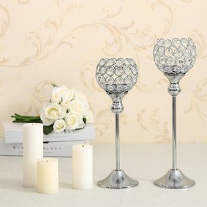 Europa Nozze di cristallo di Tealight titolari di nozze Tavolo da pranzo Centrotavola metallo Candelieri Candle Stand Wedding Decoration