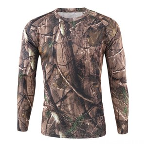 Fast Dry Duck Hunting рубашка с длинным рукавом Рид Камуфляж Охота Рубашка Одежда Открытый Wear Спортивный Открытый Apparel Бесплатная доставка