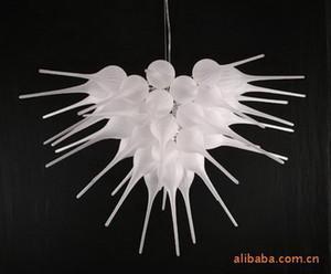 Teto alto Início Artesanato Decoração branca romântica contemporânea candelabro 100% soprado Borosilicate Chihully Mão vidro fundido Chandelie