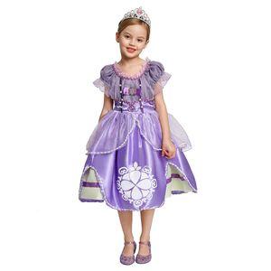 оптом! Pearls Бисероплетение София принцесса костюм Дети 5 слоев Цветочные Sophia партия платье девушки для Хэллоуина Fancy одеваются Экипировка Одежда