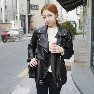 High quality Leather Jacket Women coat Locomotive Casual soft Leather Jackets loose Fashion Women veste femme plus size