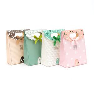 طازج صغير لطيف ومغلف حقيبة هدية ورقة من دون مقبض القوس 19 * 9 * 27 في الأوراق المالية، نمط تخصيص