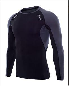 camisas funcionamiento en seco aptos para hombre ropa de gimnasia con cuello redondo ropa de poliéster de manga larga qtfy dri cuerpo ropa interior del edificio suiit