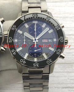 Luxusuhr IW376706 Cousteau montres mouvement quartz Japon sport Date Chronographe Jour cadran gris deux tons bande métal reloj de Lujo